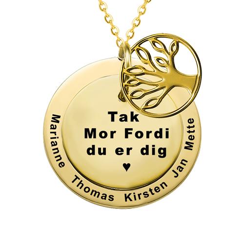Gave til mor, mors dag gave, personlig gave til mor, gaveideer til mor, smykker med gravering, halskæde med gravering