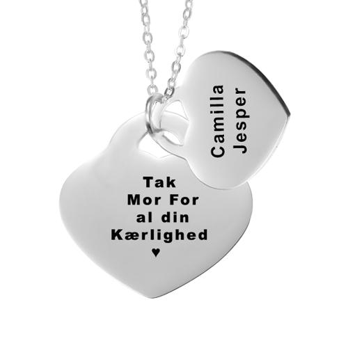 Gave til mor, mors dag gave, gaveideer til mor, smykker med gravering, halskæde med gravering