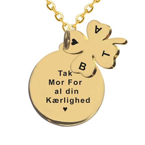 Gave til mor, mors dag gave , gaveideer til mor, smykker med gravering, halskæde med gravering